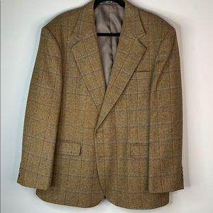Haggar wool sport coat jacket blazer tweed 44s